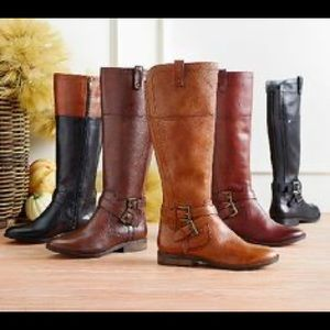 Marc Fisher Leather Riding Boots Audrey Saddle